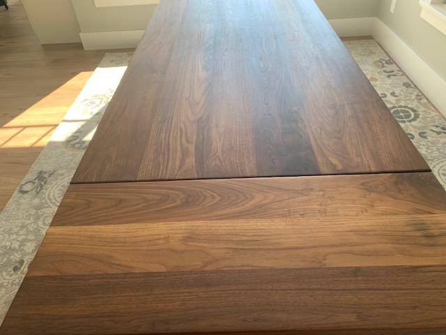 Black Walnut Table With Painted Black Farmhouse Legs