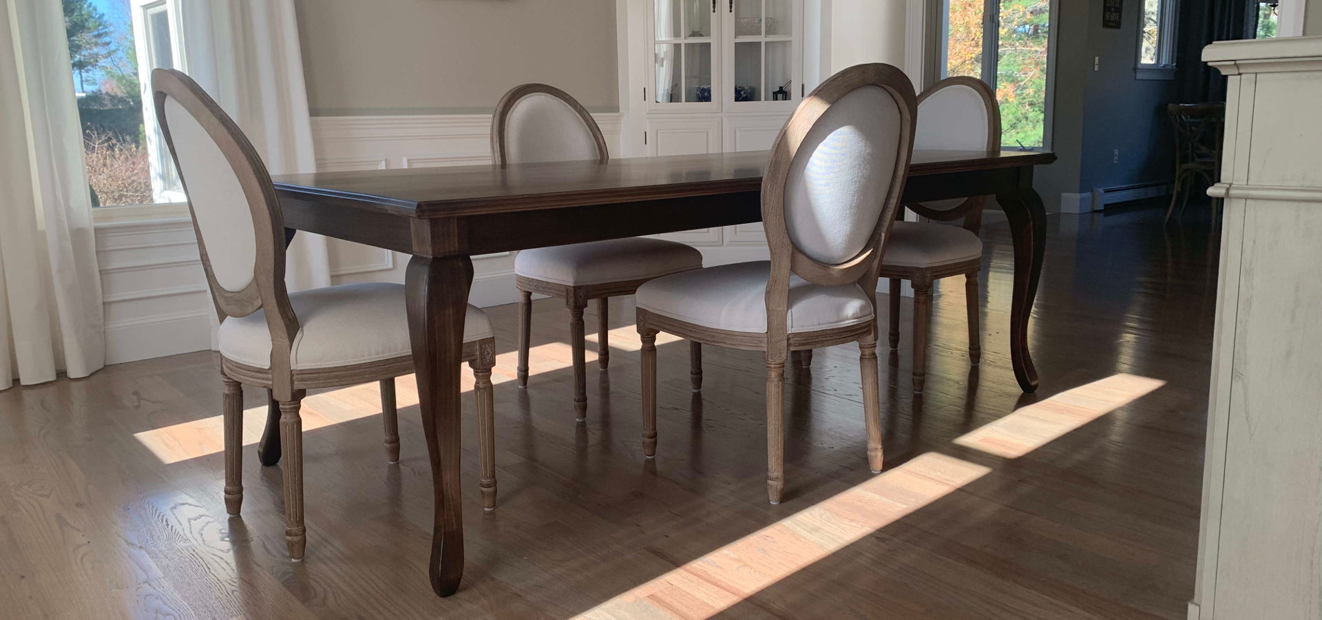 Walnut Table with Cabriole Legs