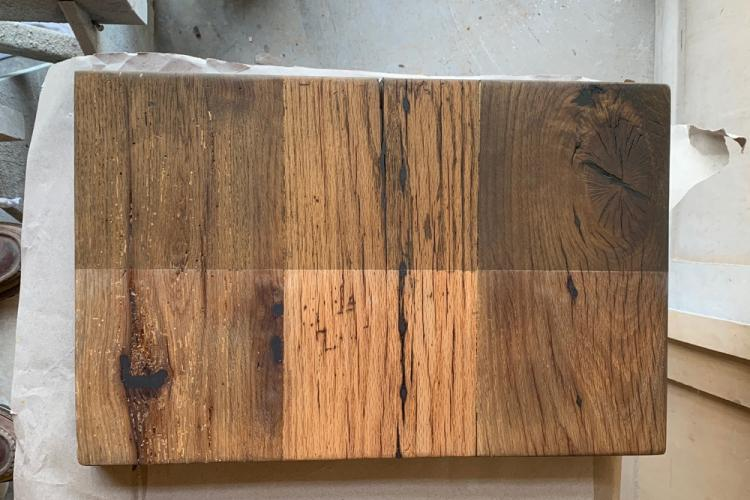 Reclaimed oak sample board