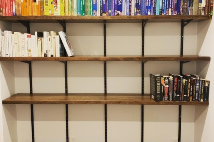 Dark Oak Bookshelves in the South End