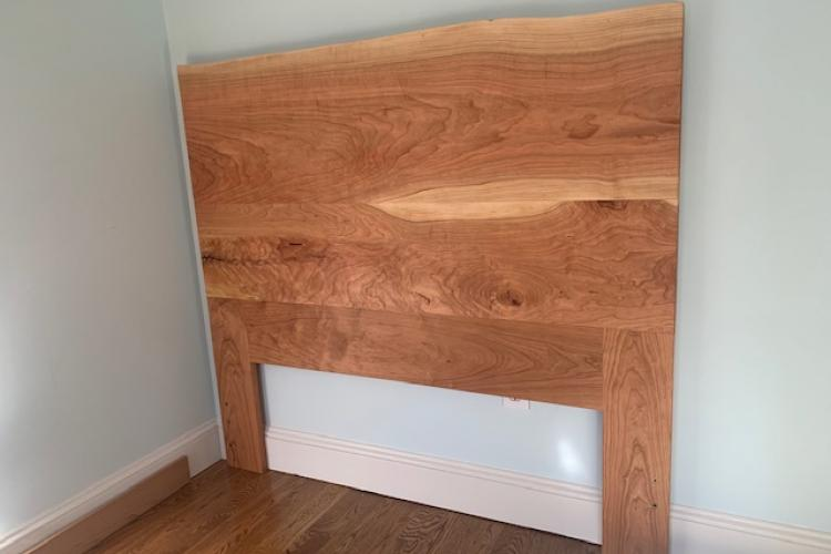 Live Edge Cherry Slab Headboard