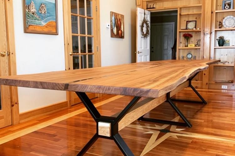 13 foot Elm Live Edge Table
