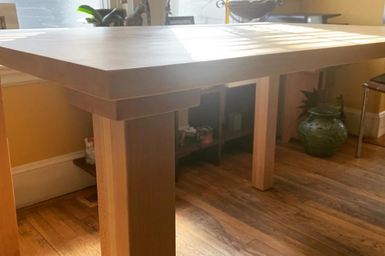 Maple Table for Wheelchair Access