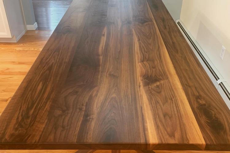 Gorgeous Walnut Table with I/X Trestle
