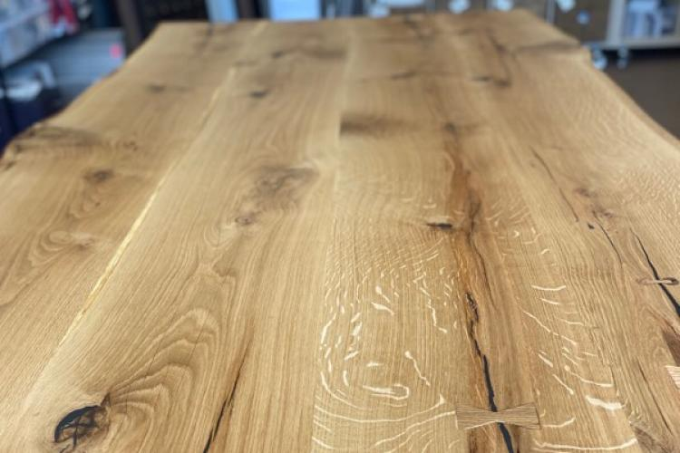 White Oak Live Edge Conference Table Top in Gloucester