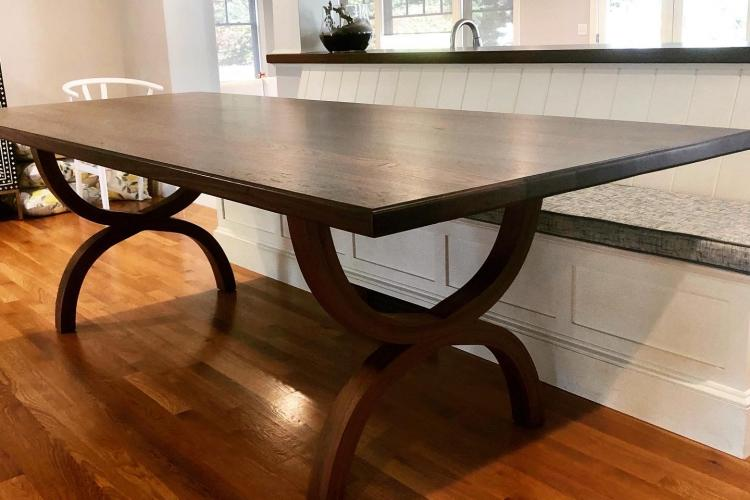 Incredible Hand-Curved Walnut Bases in Rhode Island