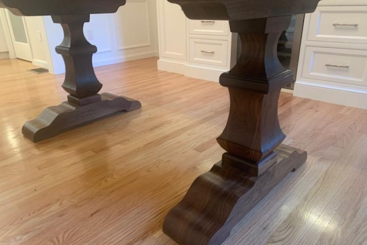 Incredible Walnut Double Pedestal Base and Walnut Top in Norfolk