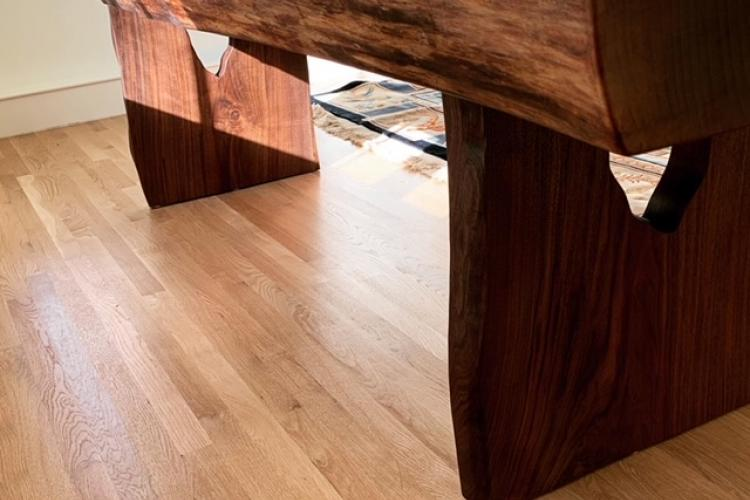 Super Thick Walnut Live Edge Table with Live Edge Bases in Cambridge